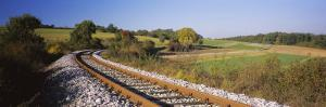 Railroad Track Passing through a Landscape, Germany