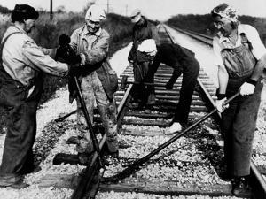Railroad Women: Track Work 1920s