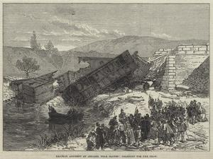 Railway Accident at Antibes, Near Cannes, Dragging for the Dead