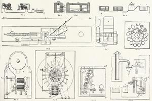 Railway Apparatus at the Paris Electrical Exhibition: Fig. 1. Lartigue's Switch Controller. Fig. 2.