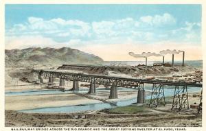 Railway Bridge over Rio Grande, El Paso, Texas