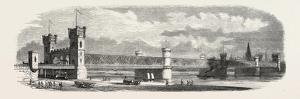 Railway Erquelines Saint-Quentin: the New Bridge of Cologne, 1855.