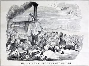 Railway Mania Cartoon 0F 1845