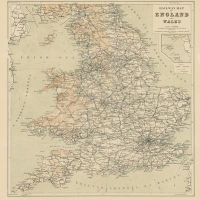 Railway Map of England and Wales