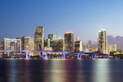Downtown Miami Skyline at Dusk