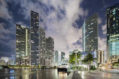 Miami River Cityscape at Dusk