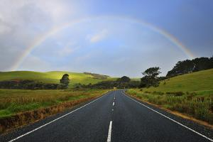 Road with Rainbow by Raimund Linke