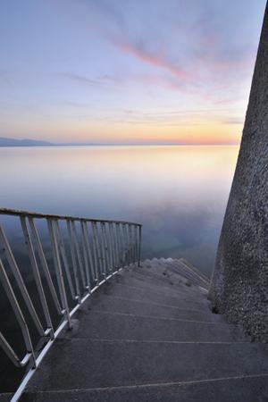 Staircase Leading to Lake Constance, Baden-Wurttemberg, Germany