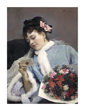 The Love Letter by Raimundo de Madrazo Y Garetta