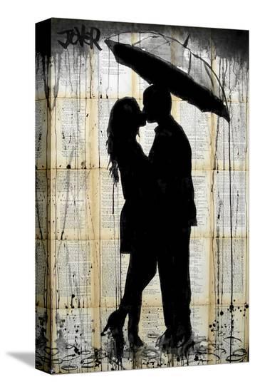 Rain Series No. 2-Loui Jover-Stretched Canvas Print
