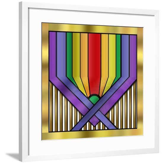 Rainbow Base-Art Deco Designs-Framed Giclee Print