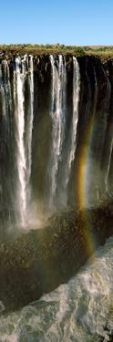 Rainbow Forms in the Water Spray in the Gorge at Victoria Falls, Zimbabwe