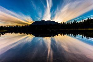 Rainbow Lake, Alaska, the Aleutian Mountain Range, near Willow Alaska