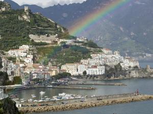 Rainbow over a Town, Almafi, Amalfi Coast, Campania, Italy