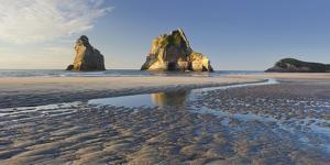 Archway Islands, Wharariki Beach, Tasman, South Island, New Zealand by Rainer Mirau