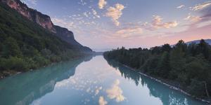 Austria, Carinthia, Drau Near AnnabrŸcke, Clouds, Mirroring by Rainer Mirau