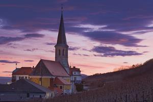 Austria, Gumpoldskirchen (Village), Church, Evening Mood by Rainer Mirau
