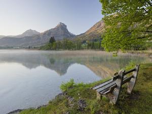 Austria, Salzburg, Lake Wolfgangsee, Shore by Rainer Mirau