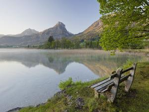 Austria, Salzburg, Lake Wolfgangsee, Shore by Rainer Mirau