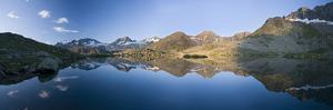 Austria, Tyrol, Stubai Alps, Mutterberg-See, Zuckerh?tl, Mountain Scenery by Rainer Mirau