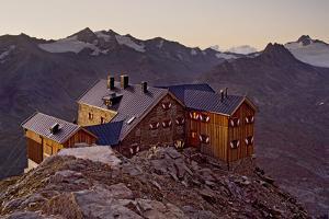 Austria, Tyrol, …tztaler Alps, Ramolhaus, Mountain Hut by Rainer Mirau