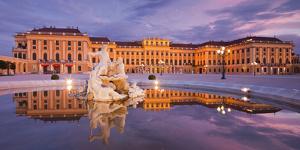 Austria, Vienna, 13th District, Hietzing, Castle Schšnbrunn, Well, Evening by Rainer Mirau