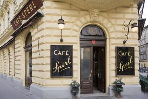 Austria, Vienna, Cafe Sperl, Cafe in Retro Styled Building by Rainer Mirau