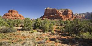 Bell Rock, Courthouse Butte, Bell Rock Trail, Sedona, Arizona, Usa by Rainer Mirau