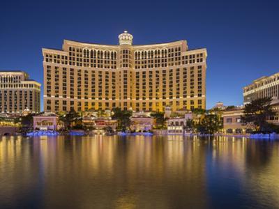 Bellagio Hotel, Lake Bellagio, Strip, South Las Vegas Boulevard, Las Vegas, Nevada, Usa by Rainer Mirau