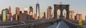 Brooklyn Bridge Direction Manhattan, New York City by Rainer Mirau