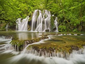 Cascades of the Tufs, Arbois, Law, France by Rainer Mirau