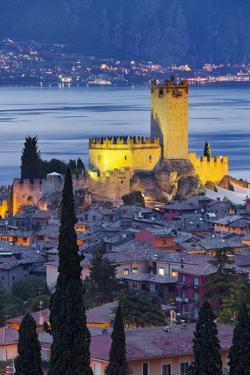 Castle of Malcesine at Lake Garda, Veneto, Italy by Rainer Mirau