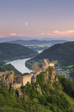 Castle Ruin Aggstein, the Danube, Wachau, Austria by Rainer Mirau