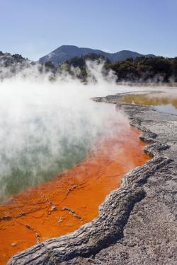 Champagne Pool, Wai-O-Tapu Thermal Wonderland, Bay of Plenty, North Island, New Zealand by Rainer Mirau