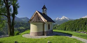 Chapel in the Lockstein, Berchtesgaden, Watzmann, Berchtesgadener Land District, Bavaria, Germany by Rainer Mirau