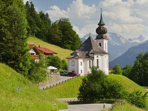 Church Maria Gern, to Vordergern, Berchtesgadener Land District, Bavaria, Germany by Rainer Mirau