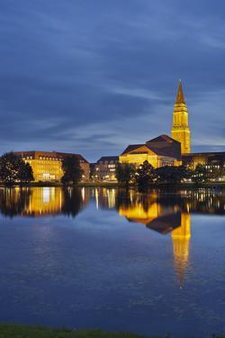 City Hall, 'Kleiner Kiel' (Canal), Kiel, Schleswig-Holstein, Germany by Rainer Mirau