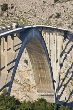 Croatia, Kvarner Gulf, Krk (Island), Bridge, Shade, Cars by Rainer Mirau