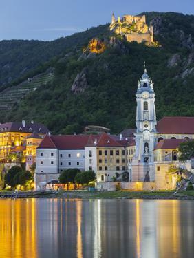 DŸrnstein Abbey, Blue Tower, Wachau, the Danube, Lower Austria, Austria by Rainer Mirau