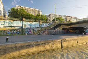 Danube Channel, District Inner City, Vienna, Austria by Rainer Mirau