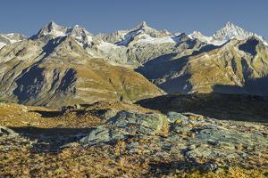 Dent Blanche, Ober Gabelhorn, Zinalrothorn, Weisshorn, Zermatt, Valais, Switzerland by Rainer Mirau