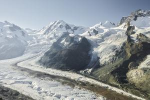 Dufourspitze, Lyskamm, Castor, Pollux, Gornergletscher, Gornergrat, Valais, Switzerland by Rainer Mirau