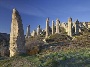 Fairy Chimneys in the 'Liebestal' (Valley), Tuff Stone, Cappadocia, Anatolia, Turkey by Rainer Mirau