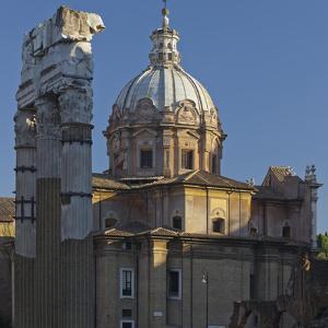 Foro Di Cesare, Forum Romanum, Corinth Broad Columns, Church Santi Luca E Martina, Rome by Rainer Mirau