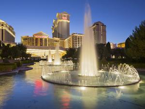 Fountain in Front of the Ceasars Palace Hotel, Strip, South Las Vegas Boulevard, Las Vegas, Nevada by Rainer Mirau