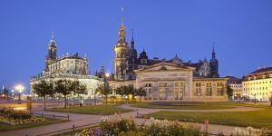 Germany, Dresden, Hofkirche (Church), Castle, Theaterplatz (Theatre Square) by Rainer Mirau