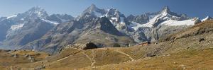 Gornergrat, Dent Blanche, Ober Gabelhorn, Zinalrothorn, Zermatt, Valais, Switzerland by Rainer Mirau