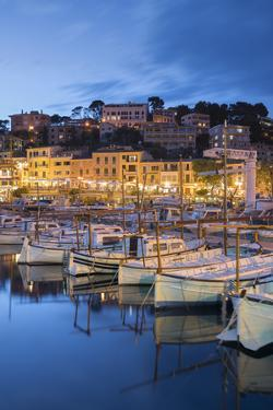 Harbour of Port De Soller, Majorca, the Balearic Islands, Spain by Rainer Mirau