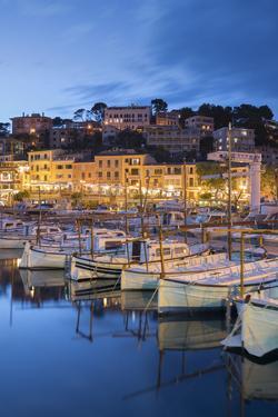 Harbour of Port De Soller, Majorca, the Balearic Islands, Spain by Rainer Mirau