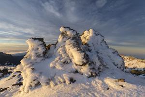 Ice Formations in Roque De Los Muchachos, Island La Palma, Canary Islands, Spain by Rainer Mirau